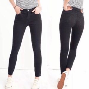 Madewell Skinny Skinny Jeans Faded Black Size 26